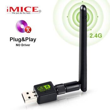 Adaptateur Wifi USB 150Mbps antenne Wi-Fi adaptateur USB MT7601 Dongle Wi-fi carte réseau sans fil Wai récepteur de fichiers Wi-Fi Lan Ethernet