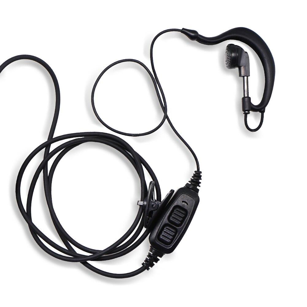 Wmaple wufeng 2 Pin PTT del Auricular del Auricular Interphones BF-888S Radio de Dos v/ías Mic para Baofeng UV-5R Plus BF-888S Radio de Dos v/ías Tipo K