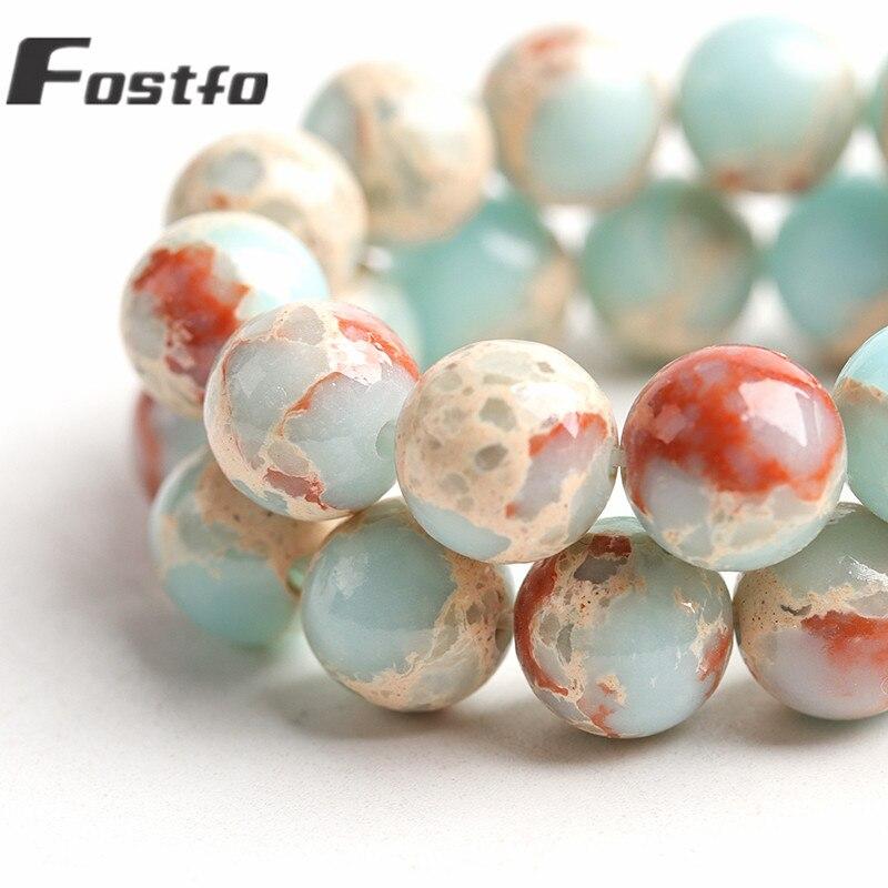 Grânulos de montanha de longevidade de pedra natural para fazer jóias 6/8/10mm redonda solta espaçador grânulos diy pulseira