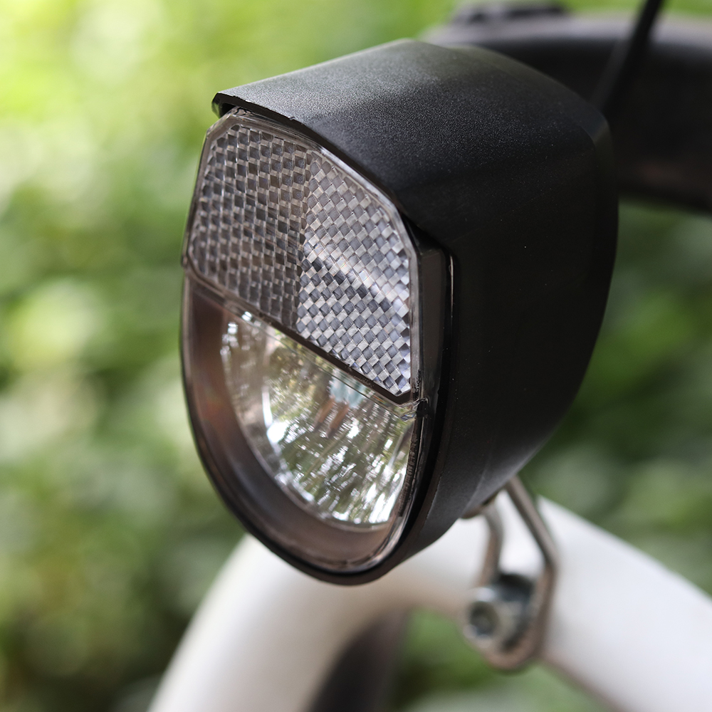 Onature 70 lux electric bike light with horn or button turn ON OFF input DC6V 12V 36V 48V 60V German Stvzo standard ebike light in Electric Bicycle Accessories from Sports Entertainment
