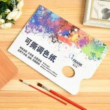 Artist Disposable Tear-Off Palette Paper Paint Palette Paper Pad for Artist Gouache Acrylic Oil Painting Watercolor Art Supplies