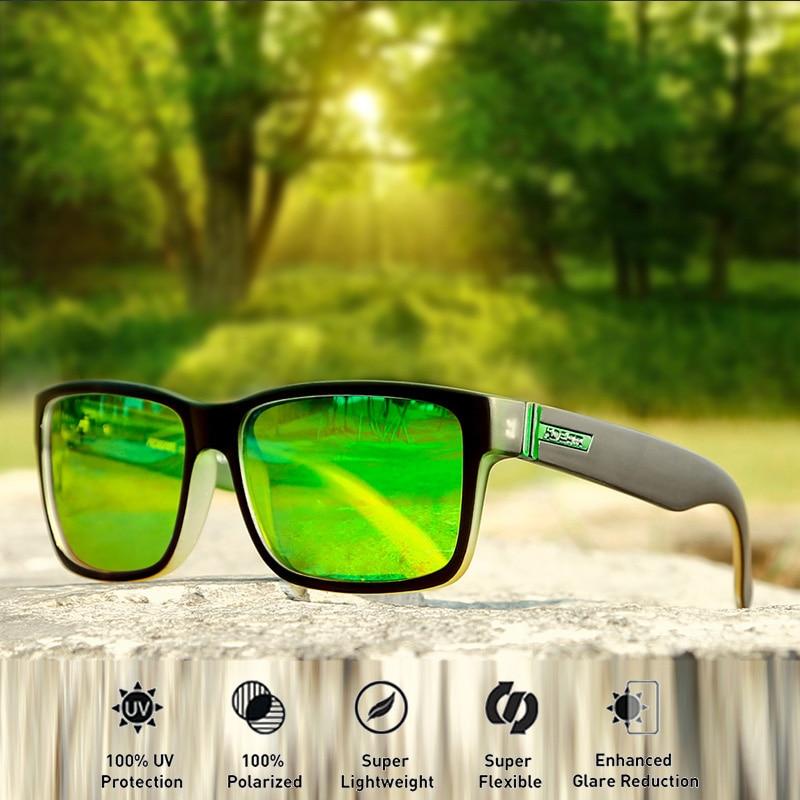 KDEAM Square Polarized Sunglasses Men Sports Style Revamp Sun glasses Driving Fishing 100% UV TAC Lens Goggle Male Gafas CE BOX|Men