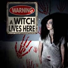 Хэллоуин кровавый знак уборной Предупреждение ющий стикер самоклеящаяся