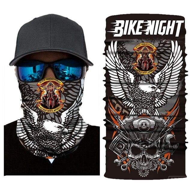 New Motorcycle Face Mask Halloween Scarf Mask face shield Head Scarf Neck Warmer Windproof Sun Mask Balaclava  Biker Masks 1