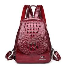 Women Leather Backpacks High Quality Sac A Dos Rucksacks For Girls Vintage Bagpack Solid Ladies Travel Back Pack School Female