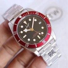 Negocios U1 Fábrica de la marca de lujo reloj de pulsera con AAA rojo bisel negro dial los hombres de cristal barrido automático movimiento relojes Tur-¿