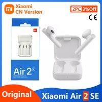Xiaomi-auriculares inalámbricos Air 2 SE con Bluetooth 5,0, dispositivo de audio Original, TWS, con enlace de emparejamiento automático, micrófono, reducción de ruido