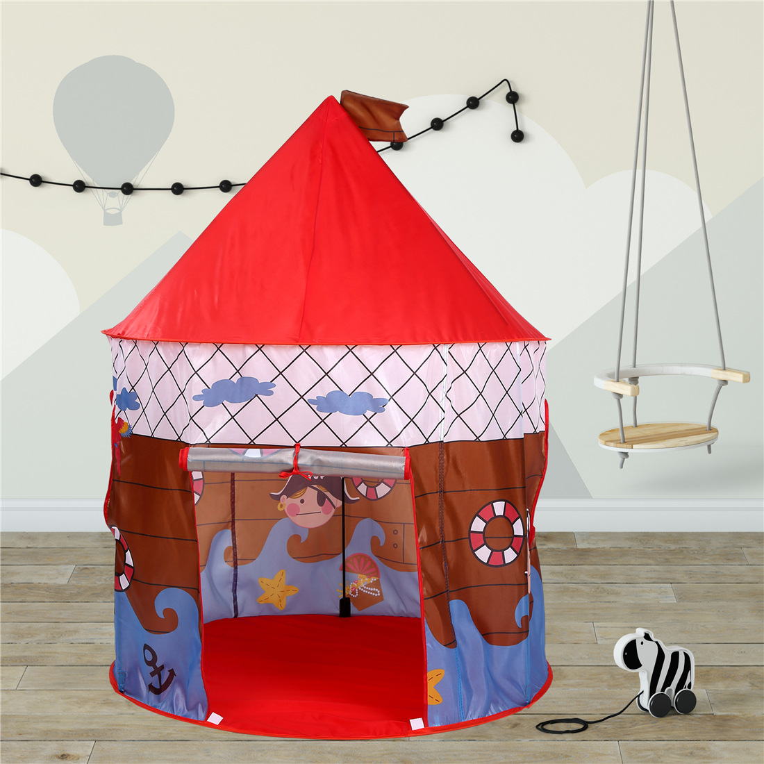 Ozhouzhan Hot Selling KID'S Tent South Korea Variety Cartoon Pirate Wave Boat Anchor Oceans Wave Ball Pool Mongolian Yurt