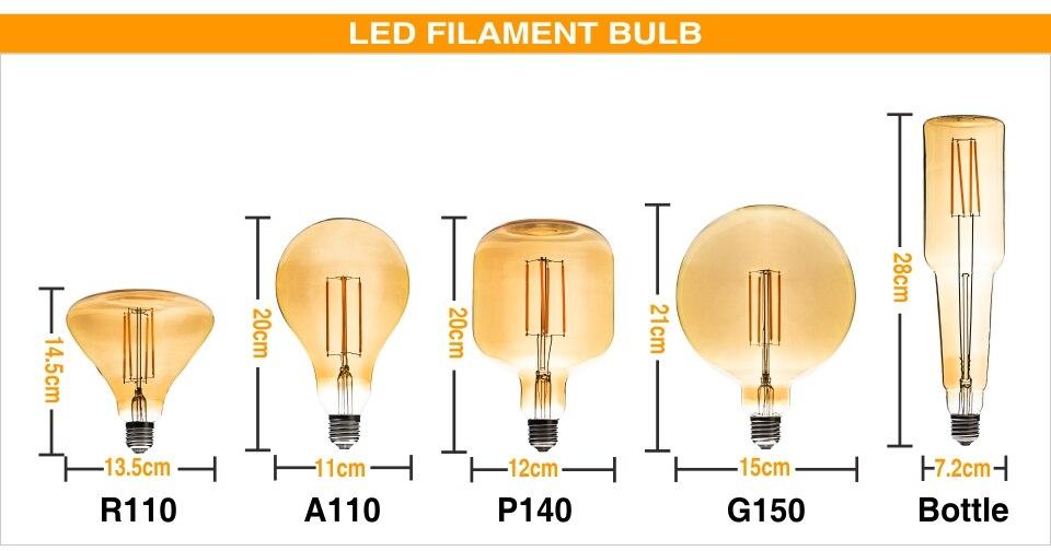 quente retro ampola lâmpada incandescente edison lâmpada para pingente