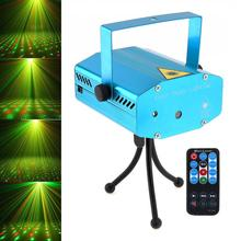 Club DJ Disco Light Projector Stage Laser Light Party Green Red Voice Control Function with Remote US /UK /AU/ EU plug a 20 green light red light mini laser stage lamp blue us plug 100 240v