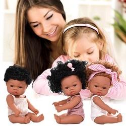 Детские милые кудрявые волосы, спортивные черные детские игрушки для мальчиков, детские подарки, Кукла с капюшоном из ткани, Кукла