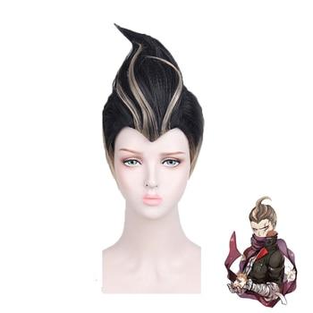 New Danganronpa Dangan Ronpa Tanaka Gandamu Cosplay Wig Role Play Hair Halloween Costume Wigs + Wig Cap цена 2017
