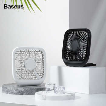 Baseus 3-Speed USB Cooling Fan Silent Small Fan For Car Backseats Air Conditioner Mini USB Fan For Office Gadgets Desktop Desk - DISCOUNT ITEM  35% OFF All Category