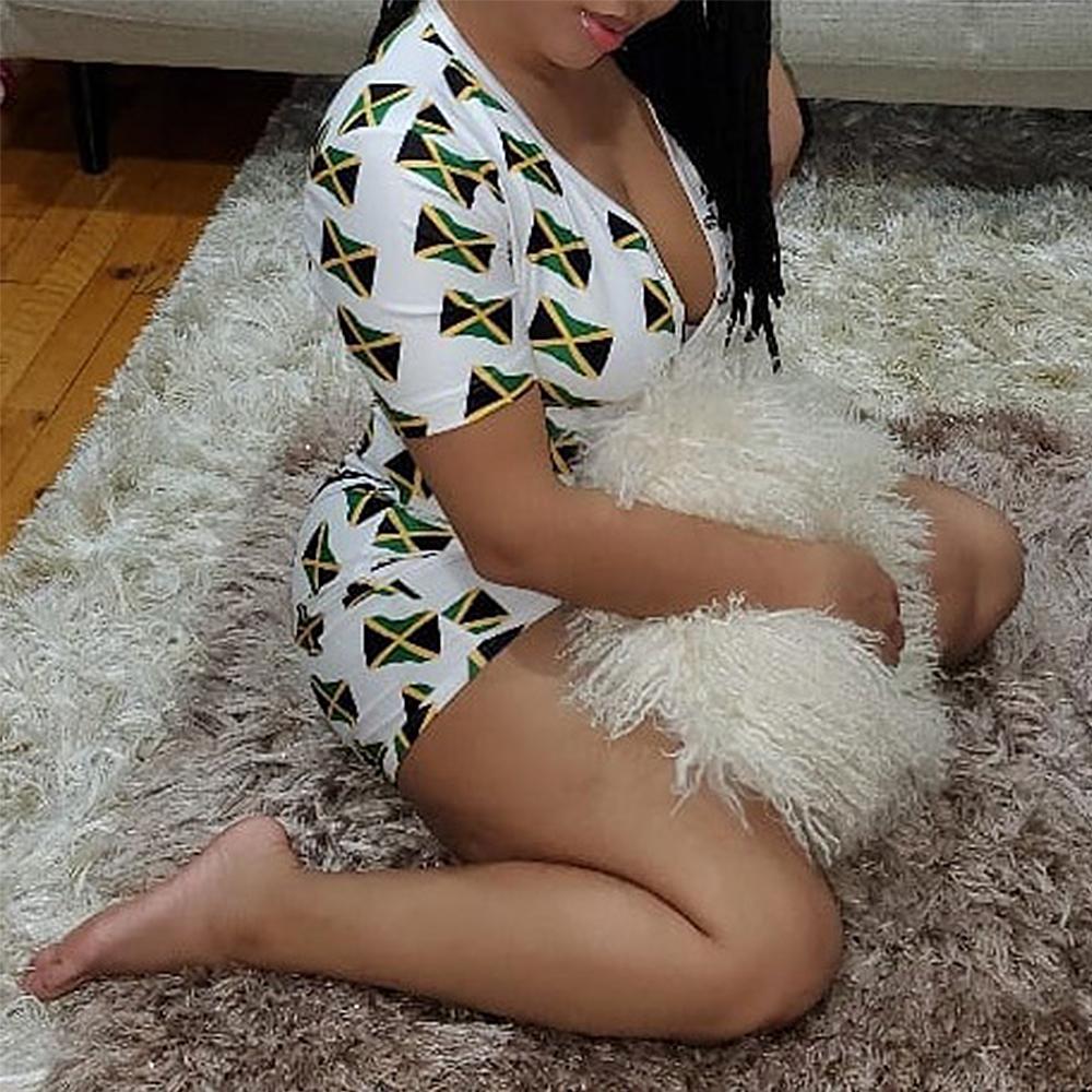 2020 Sexy Women V neck Bodycon Sleepwear Jumpsuit Button Bodysuit Shorts Romper Leotard Printed Long/Short Sleeve Bodysuit