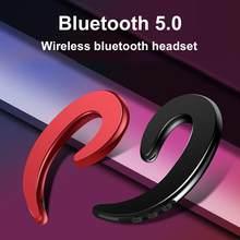 Y12 1Pc Sem Fio Bluetooth Gancho com Microfone de Condução Óssea Fone de Ouvido Motorista de Carro