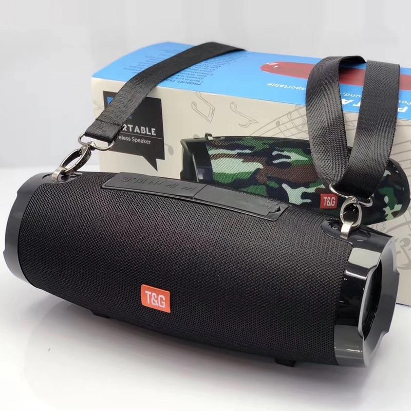 TG altavoz inalámbrico portátil con Bluetooth-altavoz a prueba de agua con Subwoofer, compatible con Radio FM, tarjeta TF, correa para exteriores, columna