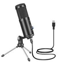 GGMM ميكروفون معدني F1 ، USB ، للكمبيوتر المحمول ، للتسجيل والغناء ، والبودكاست ، ويوتيوب