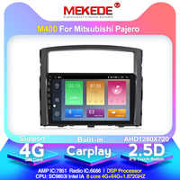 2.5D IPS Screen 4G lte Android 10 car dvd gps multimedia player For Mitsubishi Pajero 2006-2014 GPS navigation radio audio 4+64G