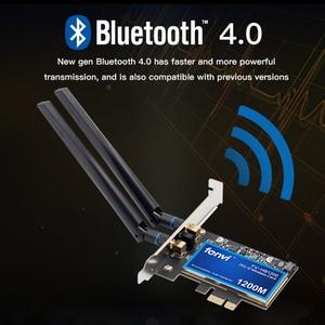 Image 2 - FV HB1200 Desktop MacOS Hackintosh Dual band 1200Mbps Bluetooth 4.0 PCI E Wireless Wi Fi Adapter 802.11ac BCM94360CS2 Wifi Card