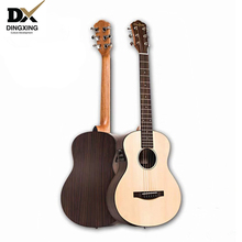 Acoustic guitar 34 inch Baby travel Spruce top Solid Wood musical Stringed instruments steel strings China guitarra professional high quality 39 acoustic classical guitar wood color guitarra musical instruments with guitar strings