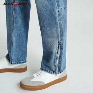 Image 4 - JackJones Autumn Mens Trend Stitching Casual Versatile Jeans 218332529