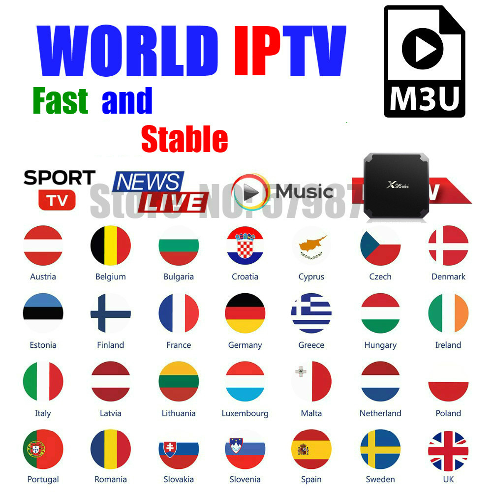Stable lPTV support Spain <font><b>Belgium</b></font> UK Dutch Germany USA Canada Smart TV Android Box iptv code No APP Included Set-top box image