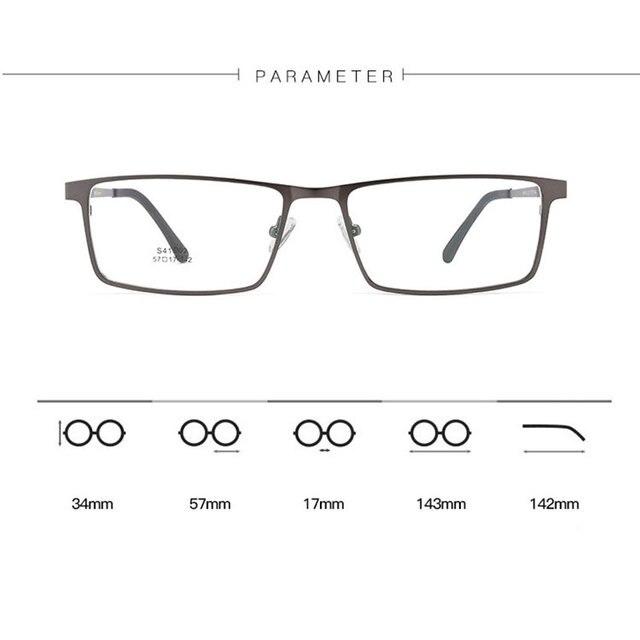 Фото очки в оправе из сплава мужские очки с полным ободком деловом