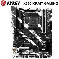 Socket AM4 MSI X370 KRAIT GAMING Motherboard AMD X370 DDR4 AM4 64GB PCI-E 3.0 M.2 AMD Ryzen Desktop MSI X370 Mainbaord ATX Used