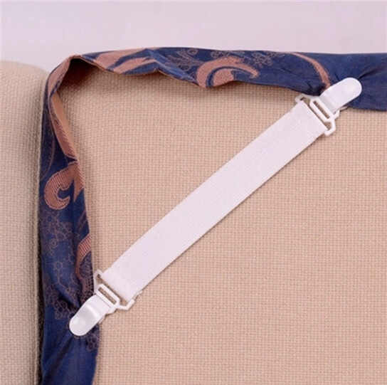 4 ชิ้น/เซ็ตฝาครอบพลาสติกสีขาว Grippers ผู้ถือที่นอนแผ่นคลิปผ้านวมผ้าห่มสายรัดยึดกันลื่นเข็มขัด