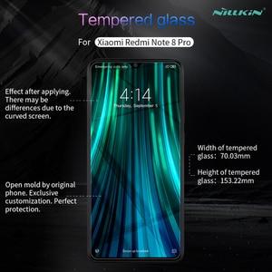 Image 2 - Para xiaomi redmi nota 8 pro vidro temperado nillkin incrível h anti explosão 9h protetor de tela para redmi nota 8 pro filme de vidro