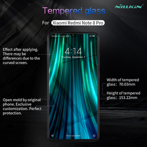 Image 2 - Per Xiaomi Redmi Note 8 pro vetro temperato NILLKIN Amazing H anti esplosione 9H pellicola salvaschermo per Redmi Note 8 pro pellicola vetro