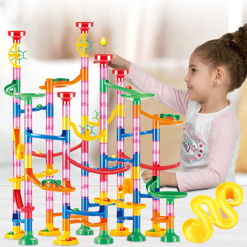 DIY Track Pipe  Building Blocks For Children Ball Circuit Marble Race Run Maze Balls Educational Toys Gift e Blocks