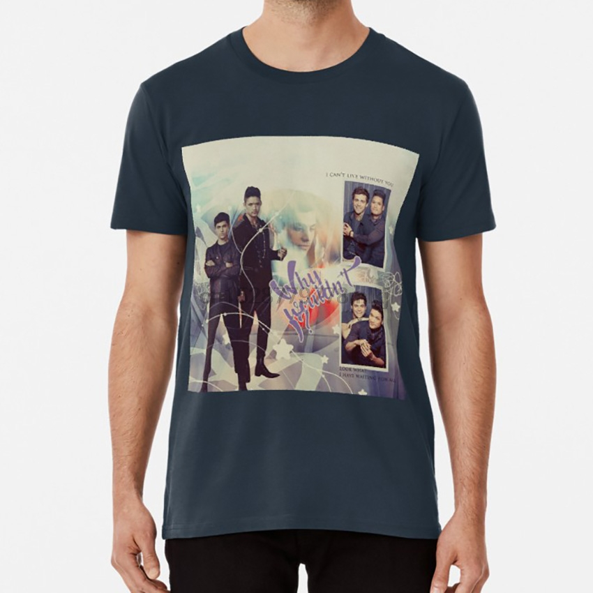 Why wouldn&rsquot I Look what I have waiting for me. v1 T <font><b>shirt</b></font> malec shadowhunters alec lightwood magnus <font><b>bane</b></font> image