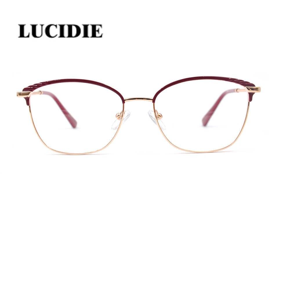 Lucidie damskie modne oprawki do okularów klasyczne ozdobne