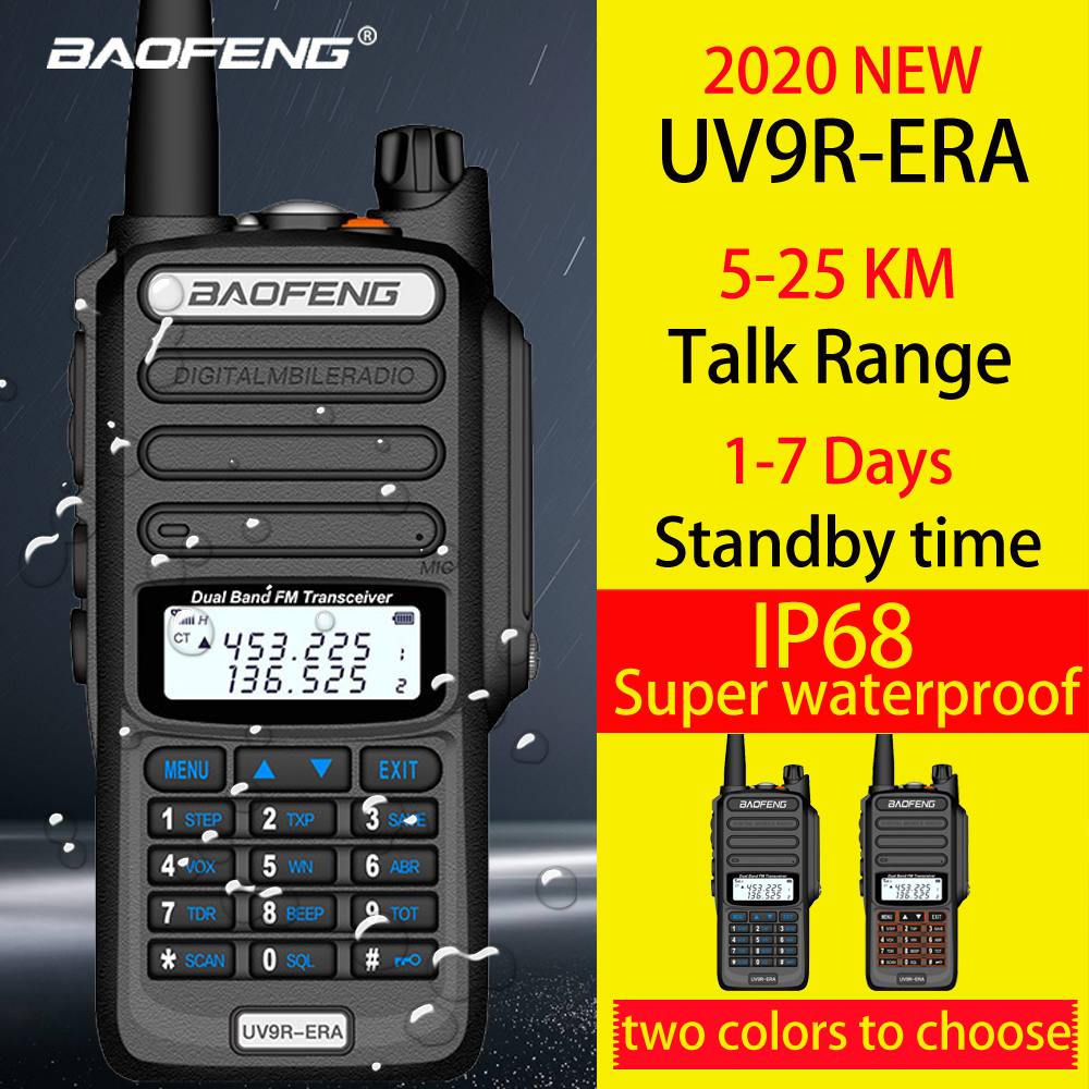 Baofeng IP68 Waterproof Walkie Talkie Long Range 25km Baofeng Uv-9r ERA Plus Cb Ham Radio Hf Transceiver UHF VHF Radio Station
