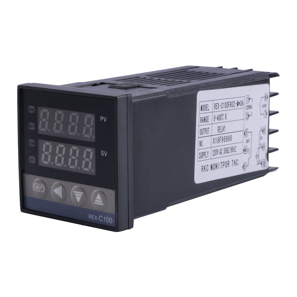 REX-C100 Dual Relay Output LED Digital PID Intelligent Temperature Controller Kits With K Type Probe Sensor 0~400