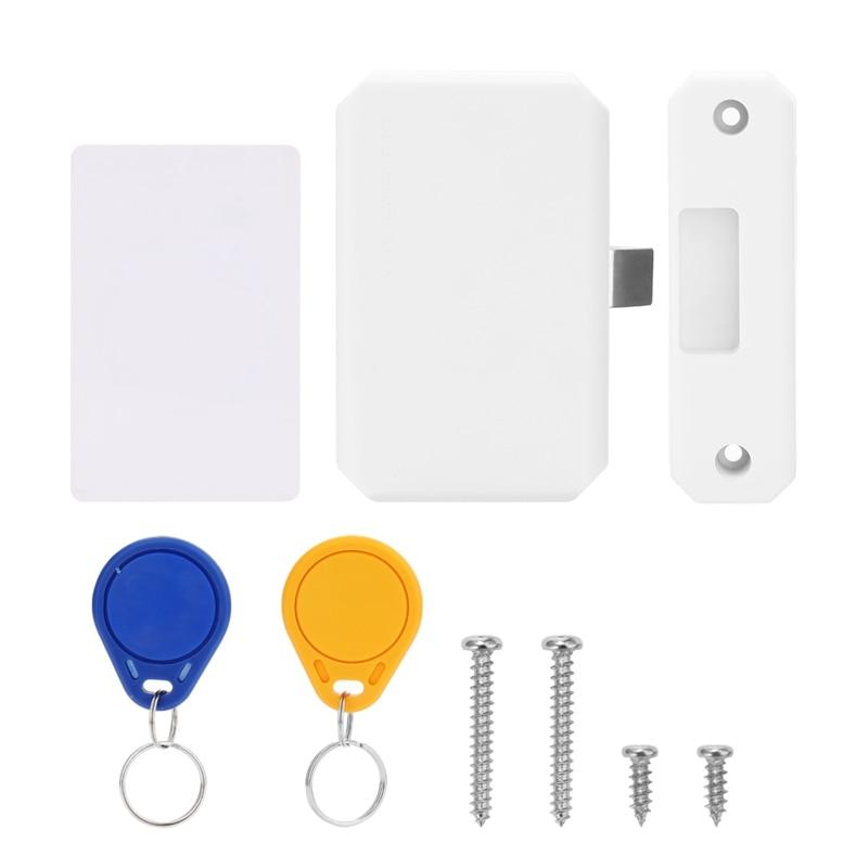 Intelligent Lock Cabinet Drawer Door Lock Electronic Sensor Drawer Lock No Drilling Invisible Lock Closet File Smart Home