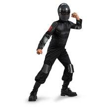 Child Snake Eyes Ninja Modern Solider Kids Boys Halloween Cosplay Costume