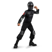Child Snake Eyes Ninja Modern Solider Kids Boys Halloween Cosplay Costume
