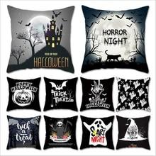 Halloween Cartoon Skull Bat Cushion Cover Nightmare Before Christmas Decor Throw Pillows Car Sofa Home Decorative Pillow Case цены
