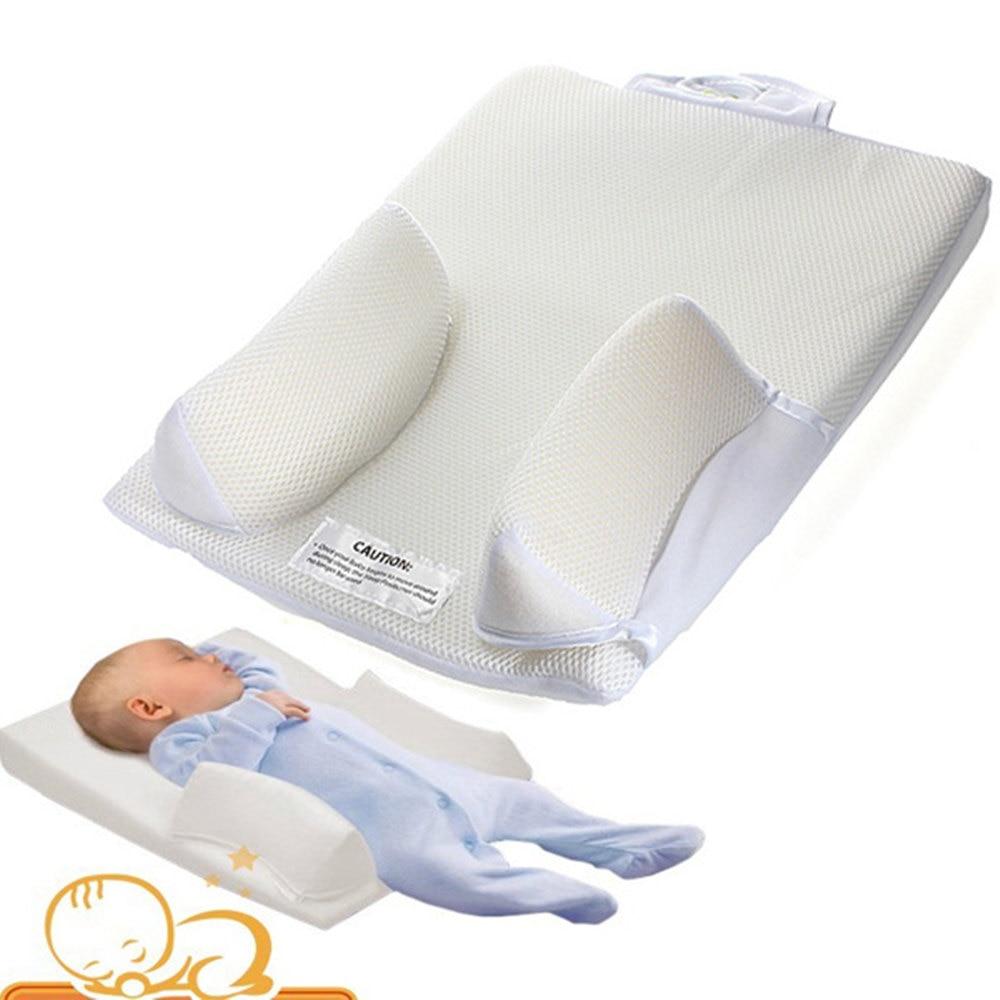 Baby Sleep Positioner Pillow Anti Roll Sleeping Mat Safe Head Back Waist Support mattress Sleeping position bed roll Pillow