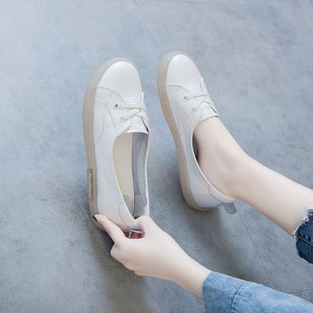 2020 New Non-slip ladies shoes Flats shoes woman Platform shoes Real Leather shoes Flat shoes women sneakers Casual womens shoes