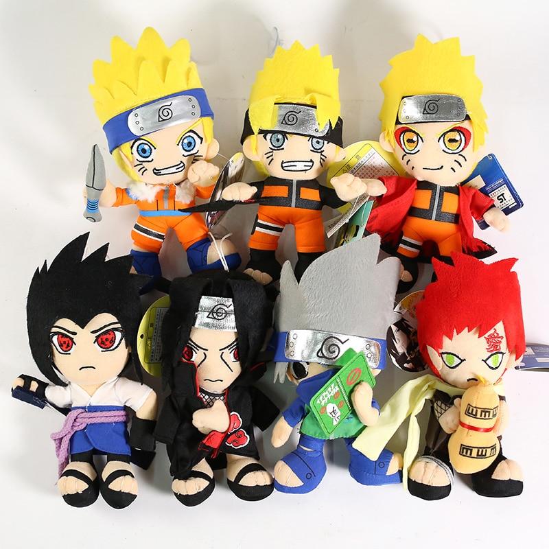 Naruto Shippuden Uzumaki Naruto Uchiha Sasuke Itachi  Hatake Kakashi Gaara Plush Toys Soft Stuffed Dolls