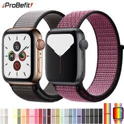 нейлон Ремешок для наручных часов Apple Watch серии 3/2/1 38 мм 42 мм мягкий нейлон дышащий сменный ремешок Спортивная петля для наручных часов iwatch се...