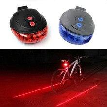 5 светодиодный велосипедный светильник 2 лазера задний светильник для велосипеда велосипедный задний светильник s горный велосипедный фонарь лампа для велосипеда аксессуары L