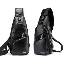 1PC Chest Bag Casual Functional Men Waist Money Phone Chest Pack Sports 2021 Charge Outdoor Usb Bag Bag Belt Belt R9J9