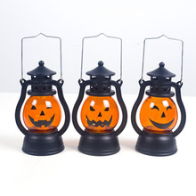 1pc Halloween Decoration Props Led Candles Light Vintage Castle Bats Pumpkin Lantern Flame Lamp Scary Party Supplies
