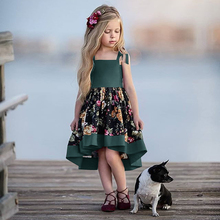цена на 2020 NEW Girl Dress Princess Dress Children Clothes Dresses Baby Girl Clothes Summer Girls Dresses Sleeveless Cotton Party Dress