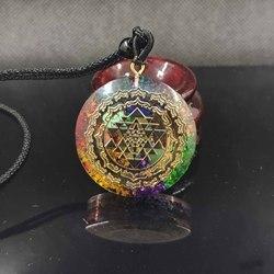 Orgonite подвеска Шри Янтра ожерелье Священная Геометрия энергия чакры ожерелье ювелирные изделия для медитации