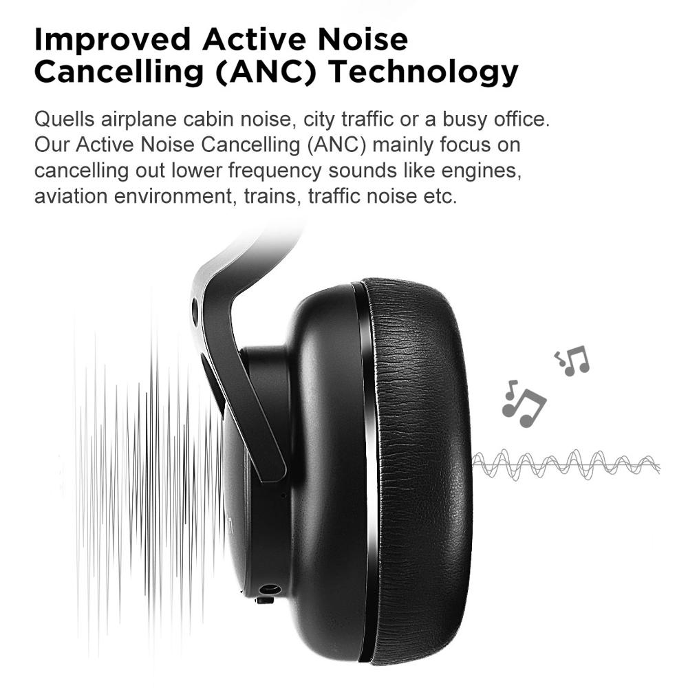 COWIN E9 Active Noise Cancelling Headphones Bluetooth Headphones Wireless Headset Over Ear with Microphone Aptx HD sound - 3